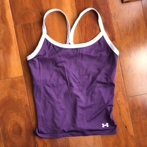 Under Amour Racerback Tank with built in Bra, M